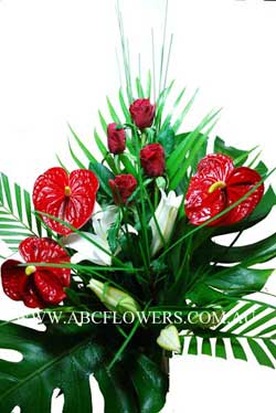 ABC Flowers Melbourne Deliver A015 Flower Arrangement Melbourne Wide Free Delivery Melbourne Inner Suburbs