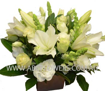 ABC Flowers Fitzroy Melbourne Deliver A025 Cliffton Hill Centre Piece of box arrangement melbourne wide free delivery melbourne inner suburbs