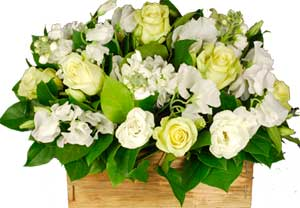 ABC Flowers St. Vincent's Hospital Melbourne Deliver A029 Wooden Crate flowers arrangement melbourne wide