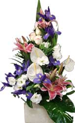 ABC Flowers St. Vincent's Hospital Fitzroy Melbourne Deliver A034 Alphington A tall ceramic arrangement melbourne wide free delivery to all melbourne inner suburbs
