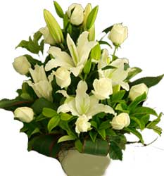 ABC Flowers St. Vincent's Hospital Fitzroy Melbourne deliver A042 south yarra an all white flower arrangement melbourne wide free delivery melbourne inner suburbs