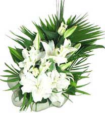 eastern hill florist st. vincent's hospital fitzroy melbourne deliver b015 white oriental bouquet melbourne wide 7 days a week free delivery all melbourne inner suburbs