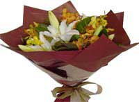 ABC Flowers st. vincent's hospital fitzroy melbourne deliver b019 bouquet of lilies and orchids 7 days a week melbourne wide free delivery melbourne inner suburbs