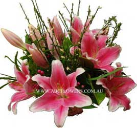 ABC Flowers st. vincent's hospital fitzroy melbourne deliver b027 bouquet of premium oriental lilies melbourne wide 7 days a week free delivery to melbourne inner suburbs