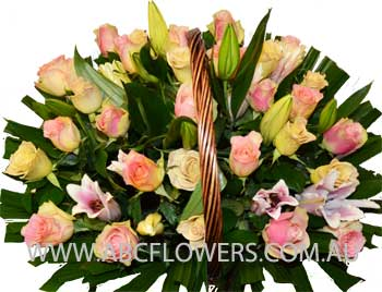 ABC Flowers st. vincent's hospital fitzroy melbourne deliver ba001 basket of flower melbourne wide free delivery melbourne inner suburbs