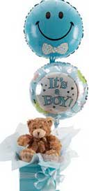 eastern hill florist st. vincent's hospital fitzroy melbourne deliver h003 gift pack with teddy bear and balloon melbourne wide free delivery melbourne inner suburbs