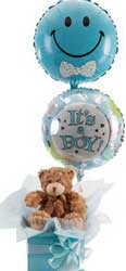ABC Flowers st. vincent's hospital fitzroy melbourne deliver h003 gift pack with teddy bear and balloon melbourne wide free delivery melbourne inner suburbs