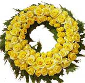 ABC Flowers st. vincent's hospital fitzroy melbourne deliver W001 wreath with roses melbourne wide free delivery melbourne inner suburbs