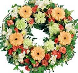 ABC Flowers st. vincent's hospital fitzroy melbourne deliver w004 traditional wreath melbourne wide free delivey melbourne inner suburbs