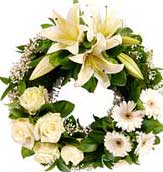 ABC Flowers st. vincent's hospital fitzroy melbourne deliver w006 modern wreath melbourne wide free delivery melbourne inner suburbs